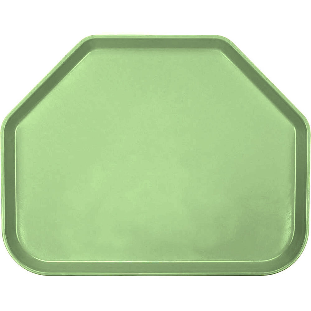 "Lime-Ade, 14""x18"" Trapezoid Food Trays, Fiberglass, 12/PK"