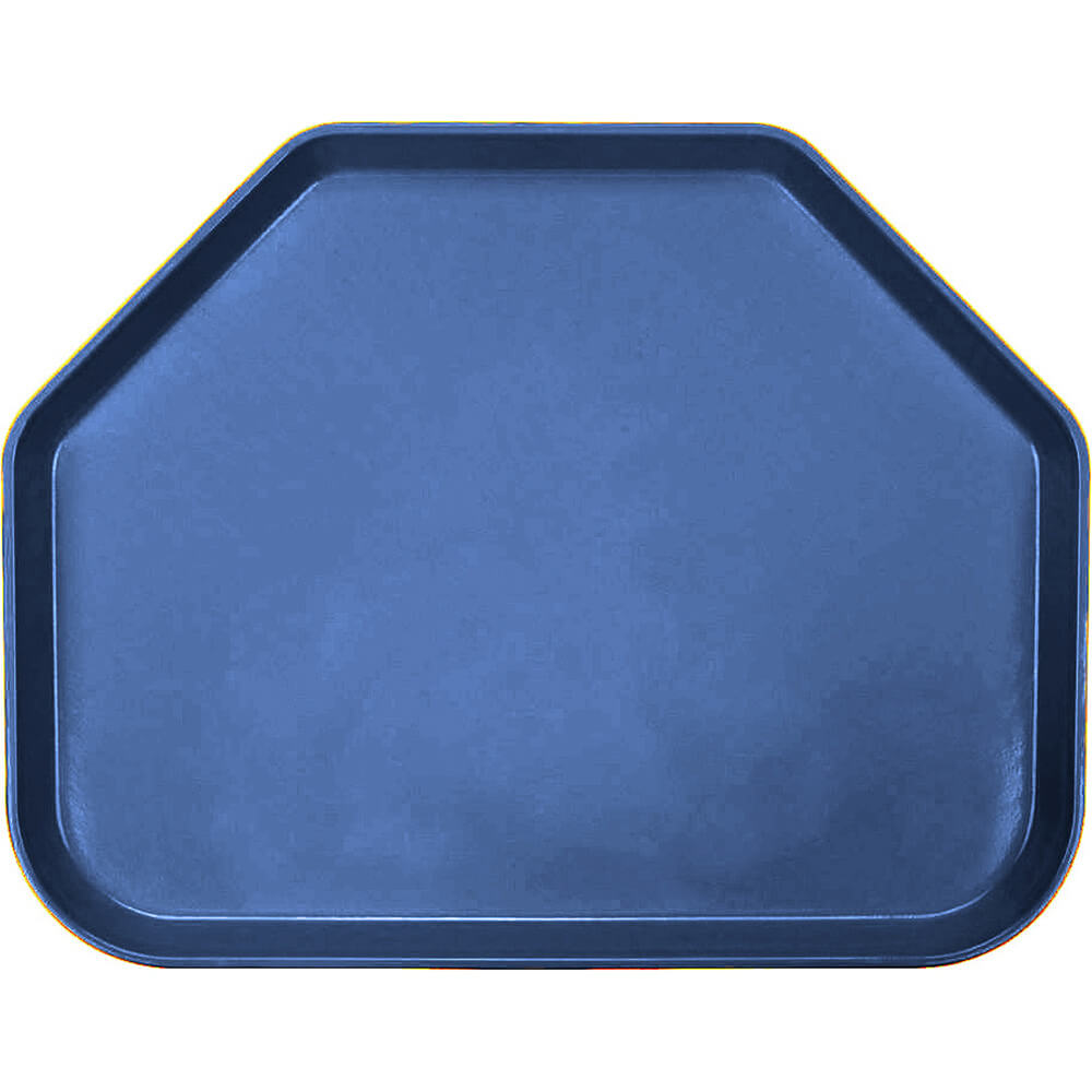 "Amazon Blue, 14""x18"" Trapezoid Food Trays, Fiberglass, 12/PK"