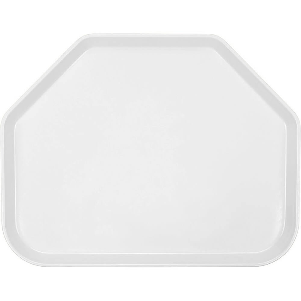 "White, 14""x18"" Trapezoid Food Trays, Fiberglass, 12/PK"