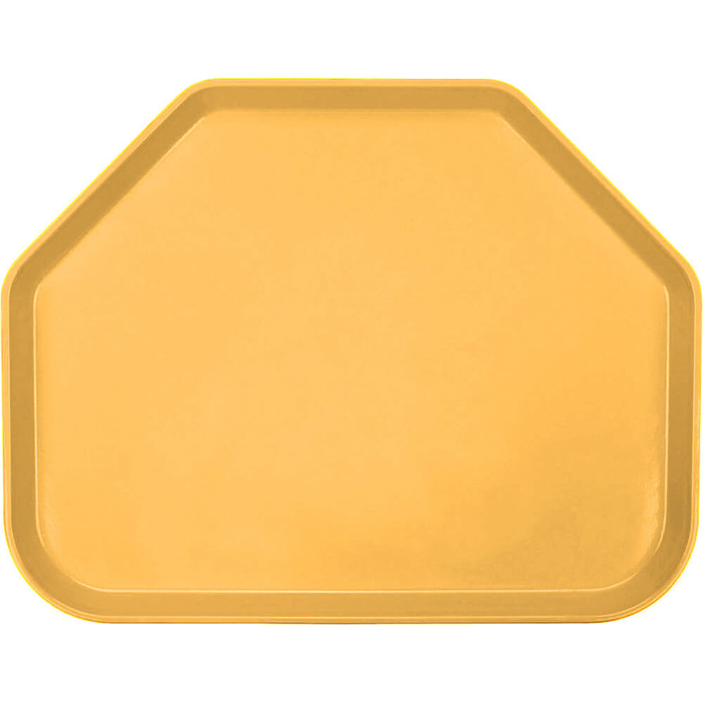 "Tuscan Gold, 14""x18"" Trapezoid Food Trays, Fiberglass, 12/PK"