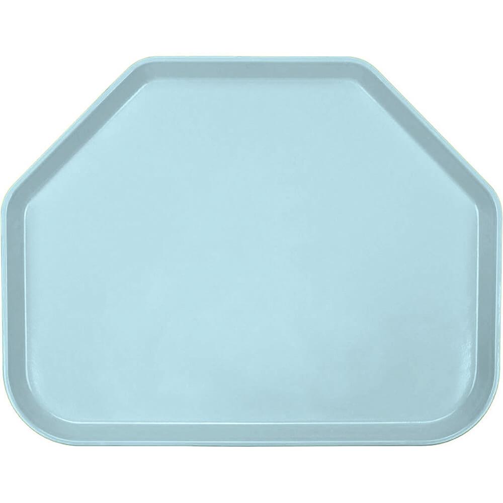"Sky Blue, 14""x18"" Trapezoid Food Trays, Fiberglass, 12/PK"