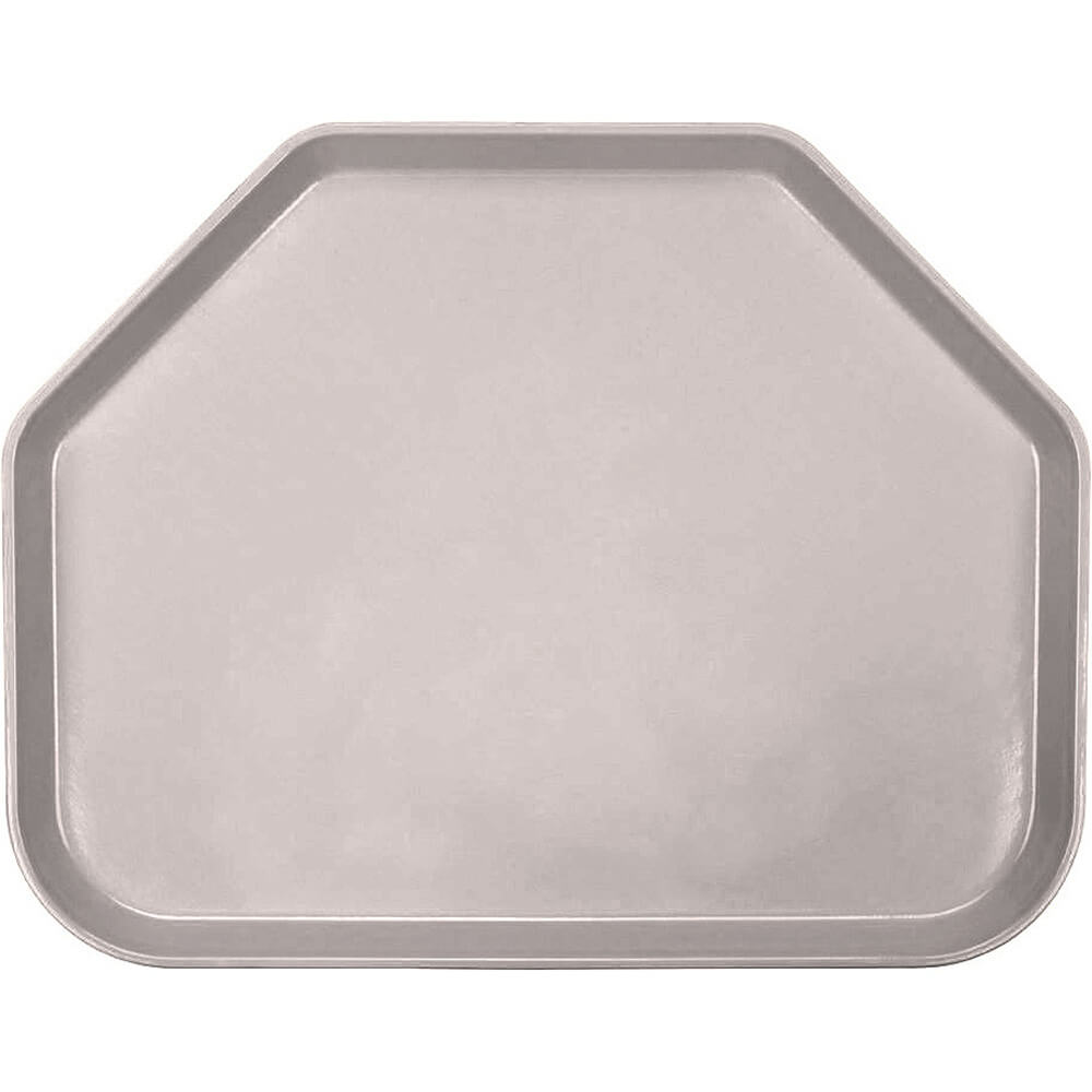 "Taupe, 14""x18"" Trapezoid Food Trays, Fiberglass, 12/PK"