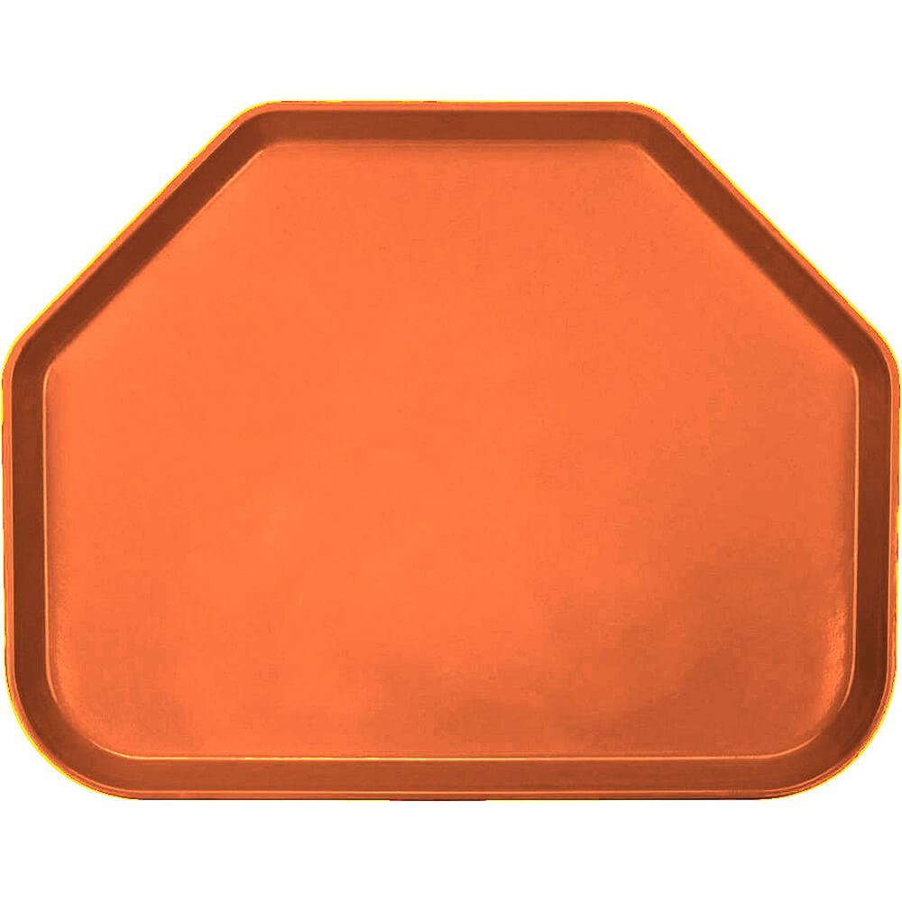 "Citrus Orange, 14""x18"" Trapezoid Food Trays, Fiberglass, 12/PK"