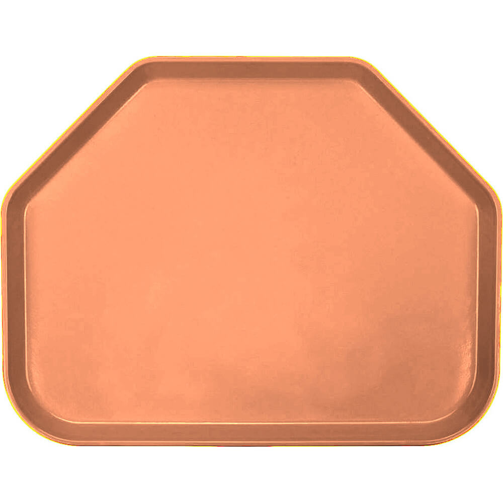 "Orange Pizazz, 14""x18"" Trapezoid Food Trays, Fiberglass, 12/PK"