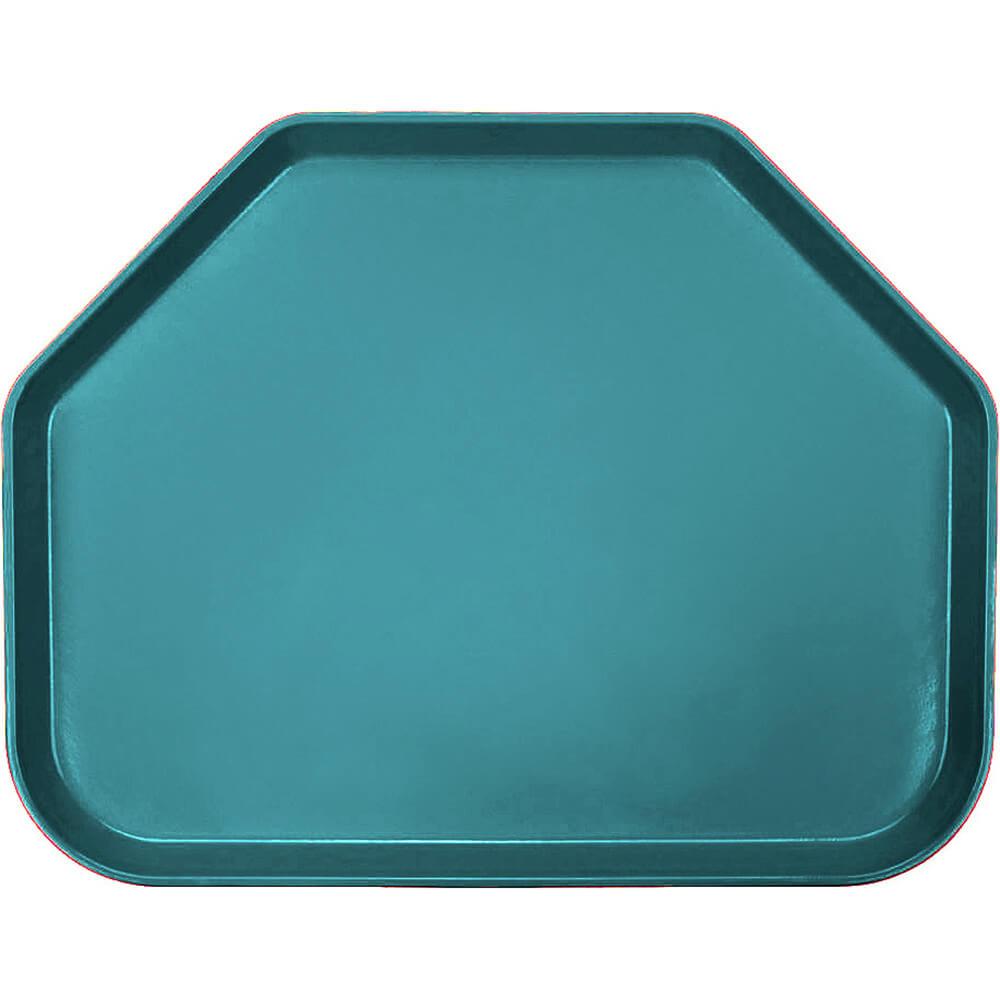 "Slate Blue, 14""x18"" Trapezoid Food Trays, Fiberglass, 12/PK"