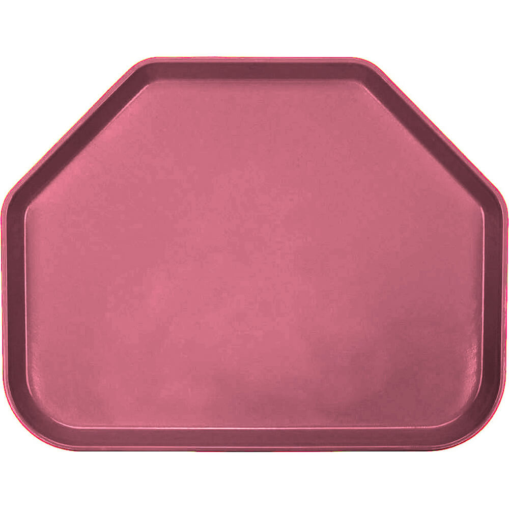 "Raspberry Cream, 14""x18"" Trapezoid Food Trays, Fiberglass, 12/PK"