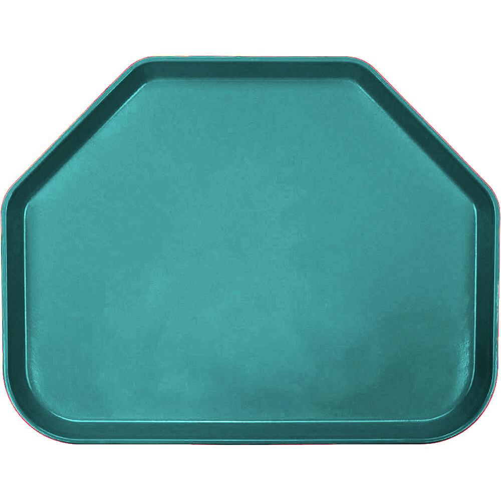 """Teal, 14""""x18"""" Trapezoid Food Trays, Fiberglass, 12/PK"""