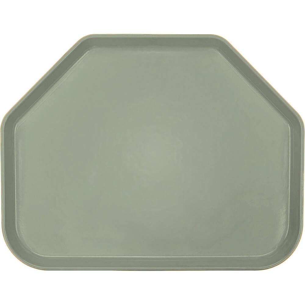 """Olive Green, 14""""x18"""" Trapezoid Food Trays, Fiberglass, 12/PK"""