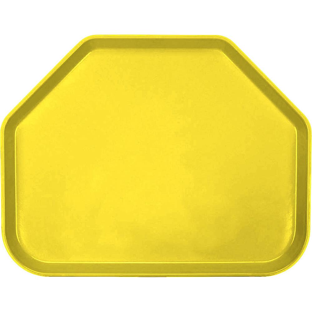 """Mustard, 14""""x18"""" Trapezoid Food Trays, Fiberglass, 12/PK"""