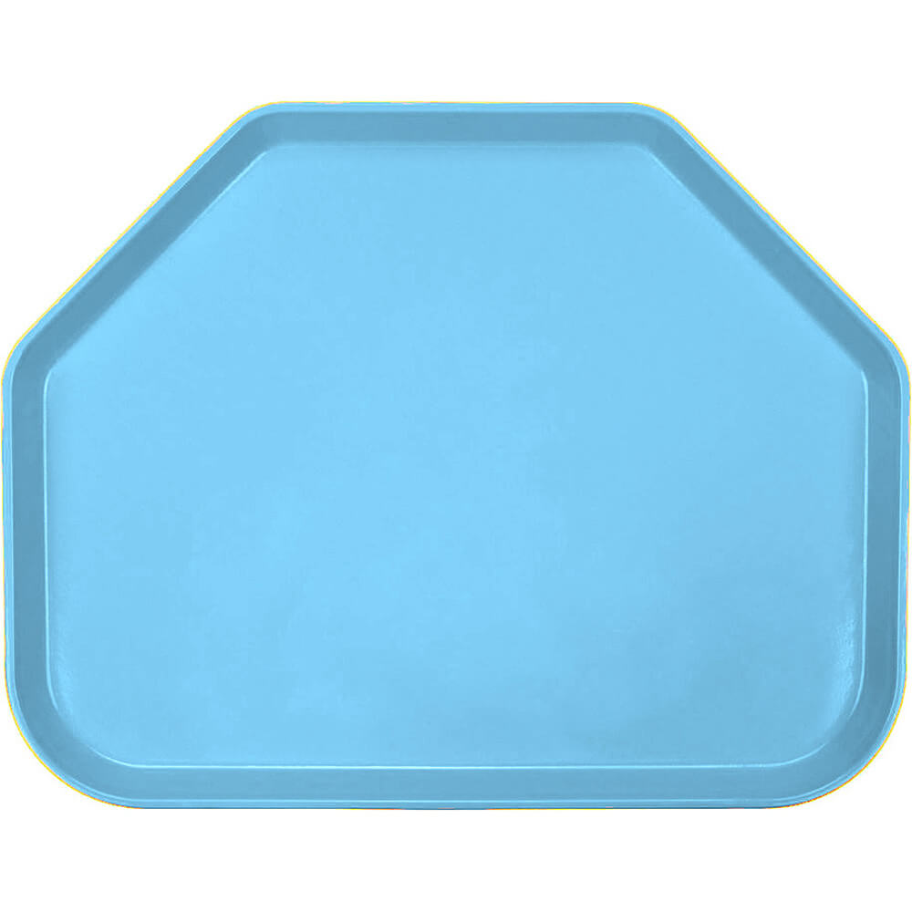"Robin Egg Blue, 14""x18"" Trapezoid Food Trays, Fiberglass, 12/PK"