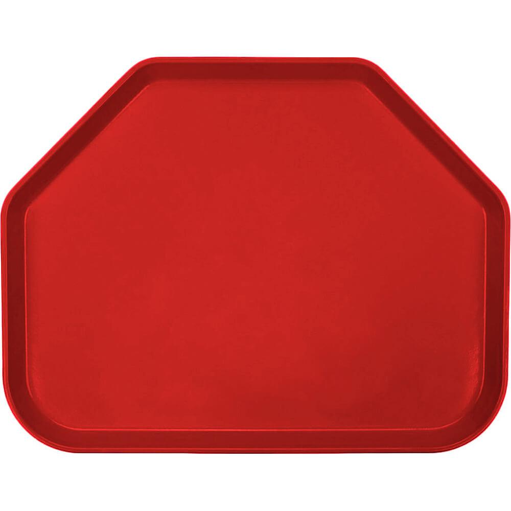 "Cambro Red, 14""x18"" Trapezoid Food Trays, Fiberglass, 12/PK"