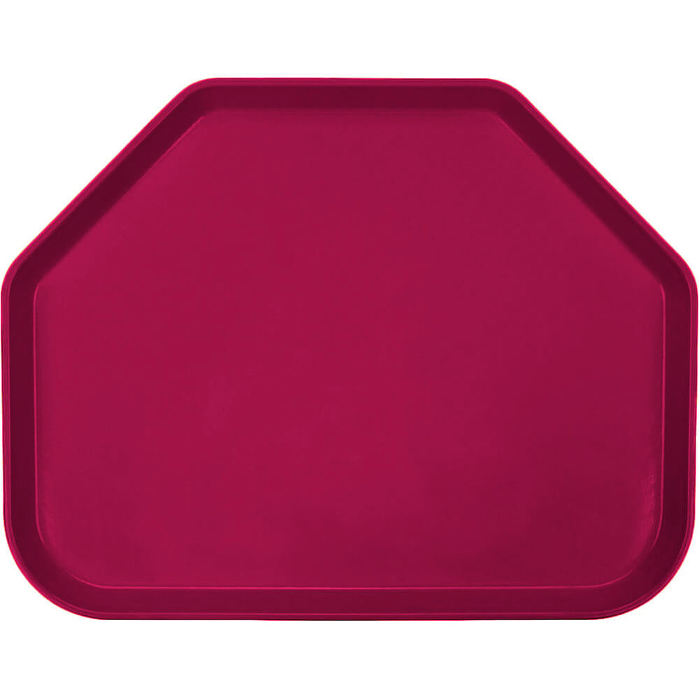 "Burgundy Wine, 14""x18"" Trapezoid Food Trays, Fiberglass, 12/PK"
