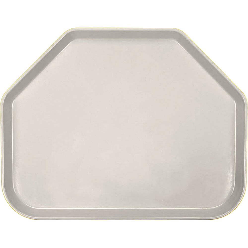 "Cottage White, 14""x18"" Trapezoid Food Trays, Fiberglass, 12/PK"