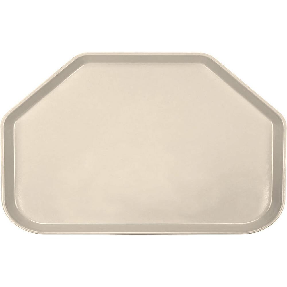 "Desert Tan, 14""x22"" Trapezoid Food Trays, Fiberglass, 12/PK"