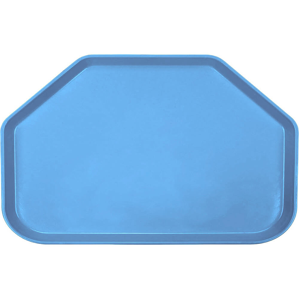 "Horizon Blue, 14""x22"" Trapezoid Food Trays, Fiberglass, 12/PK"