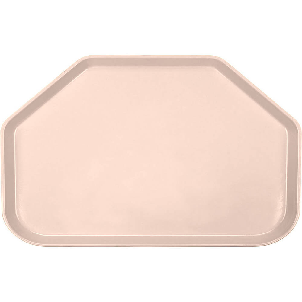 "Light Peach, 14""x22"" Trapezoid Food Trays, Fiberglass, 12/PK"