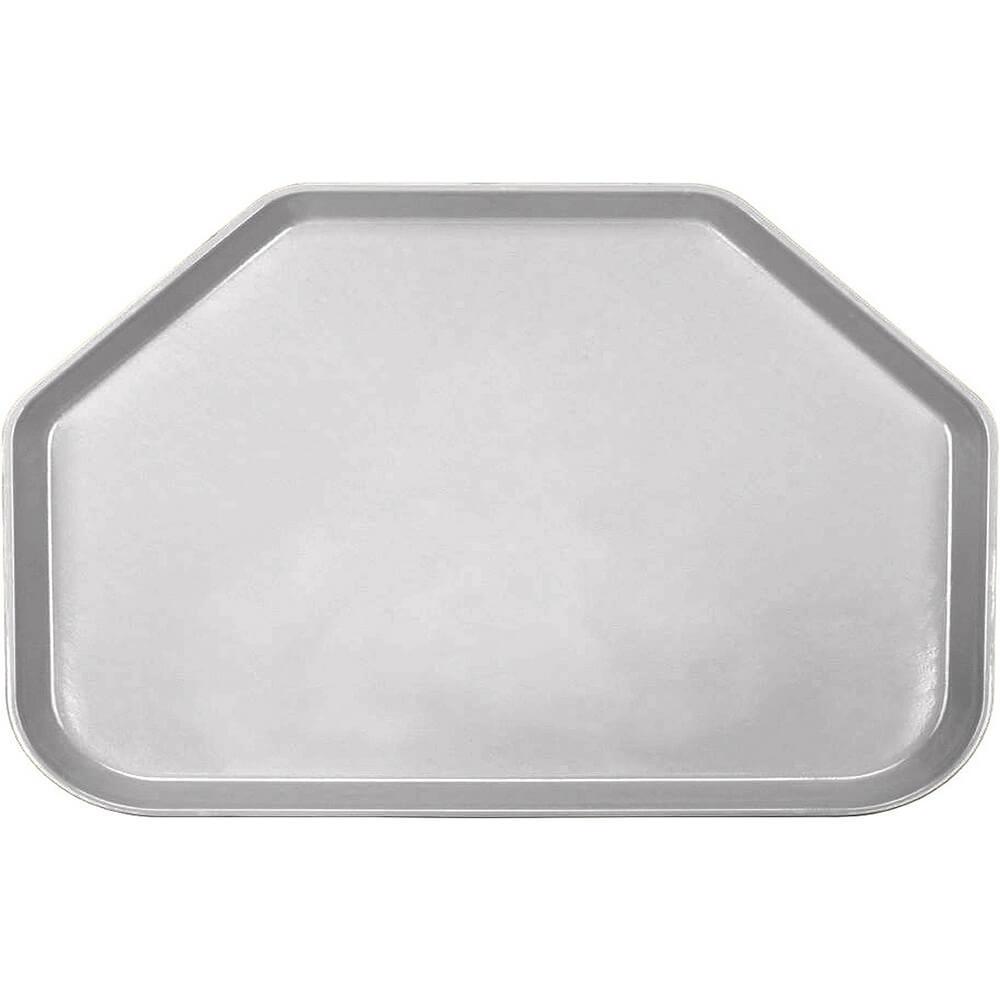 """Pearl Gray, 14""""x22"""" Trapezoid Food Trays, Fiberglass, 12/PK"""