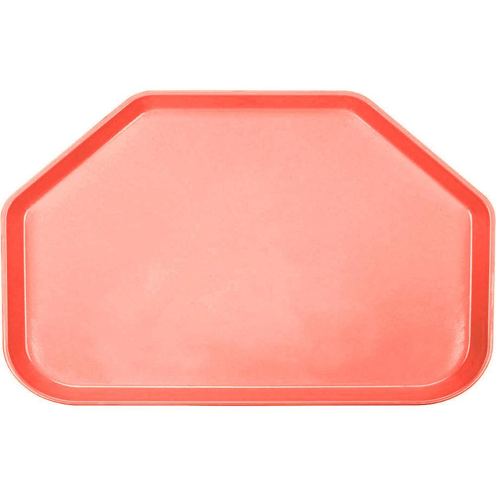 """Dark Peach, 14""""x22"""" Trapezoid Food Trays, Fiberglass, 12/PK"""