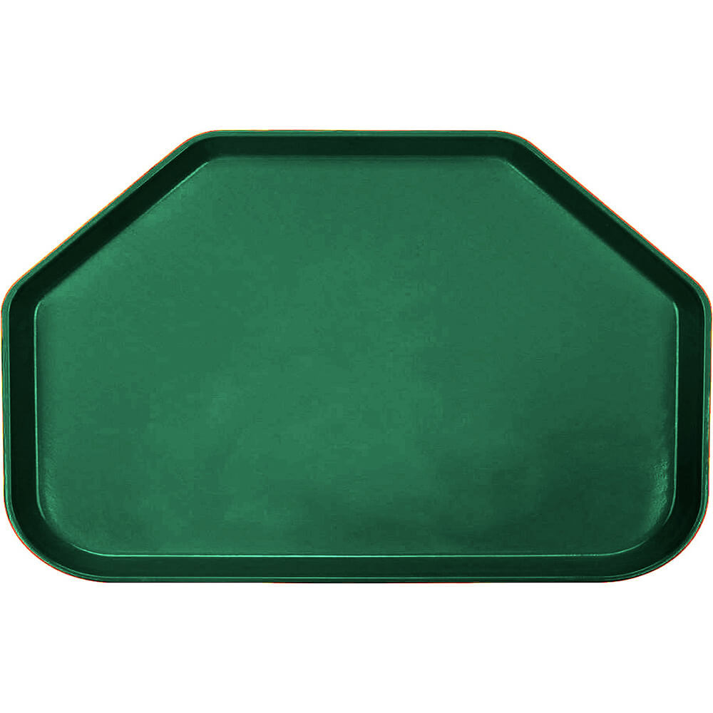 "Sherwood Green, 14""x22"" Trapezoid Food Trays, Fiberglass, 12/PK"