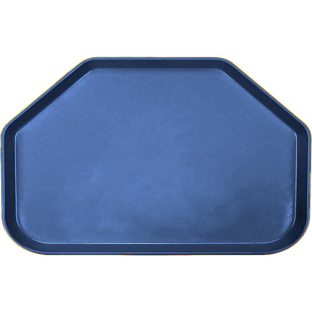 "Amazon Blue, 14""x22"" Trapezoid Food Trays, Fiberglass, 12/PK"