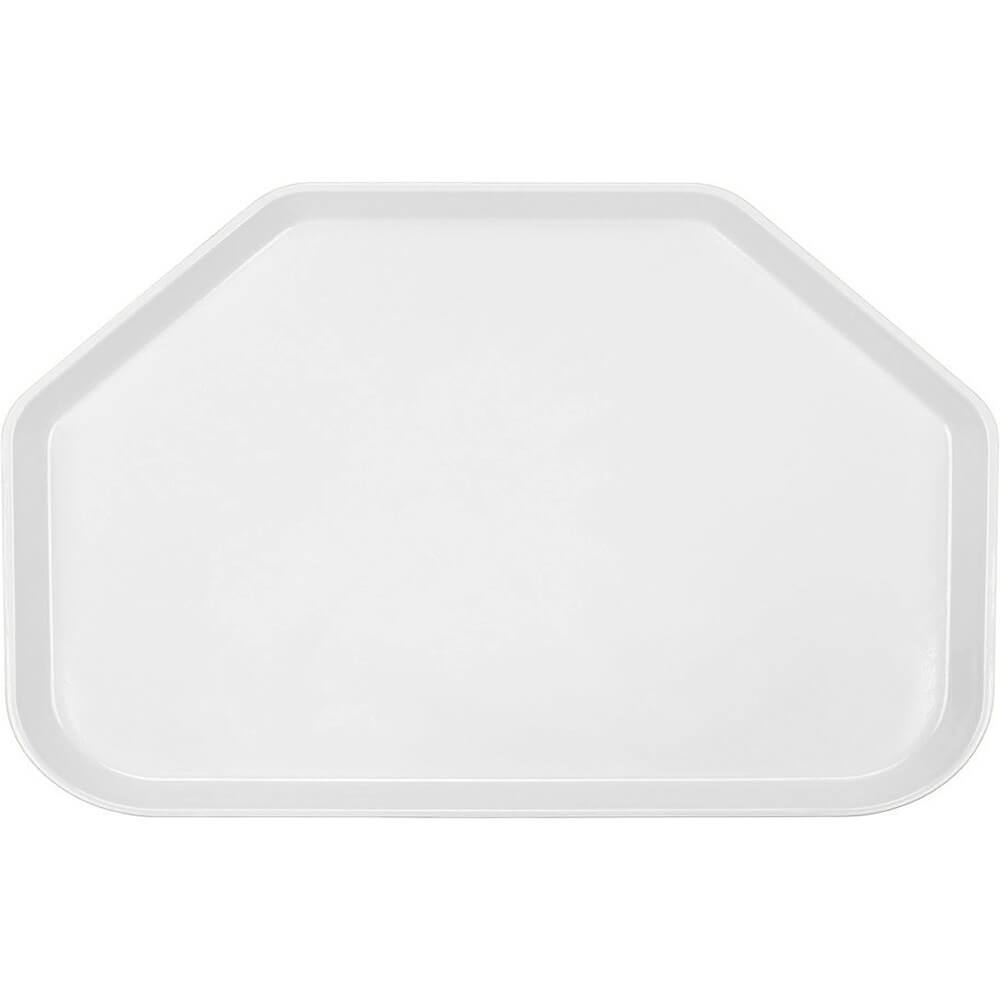 "White, 14""x22"" Trapezoid Food Trays, Fiberglass, 12/PK"