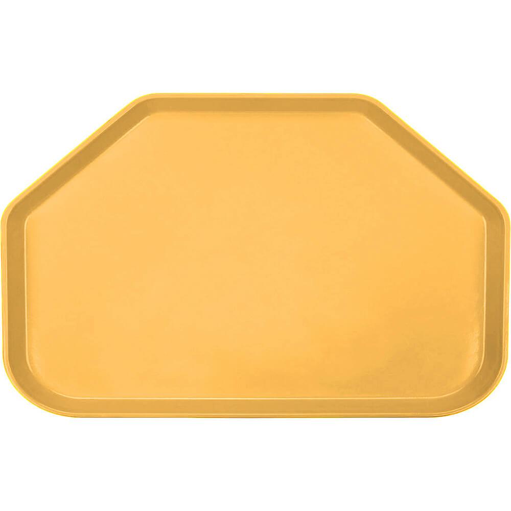 "Tuscan Gold, 14""x22"" Trapezoid Food Trays, Fiberglass, 12/PK"