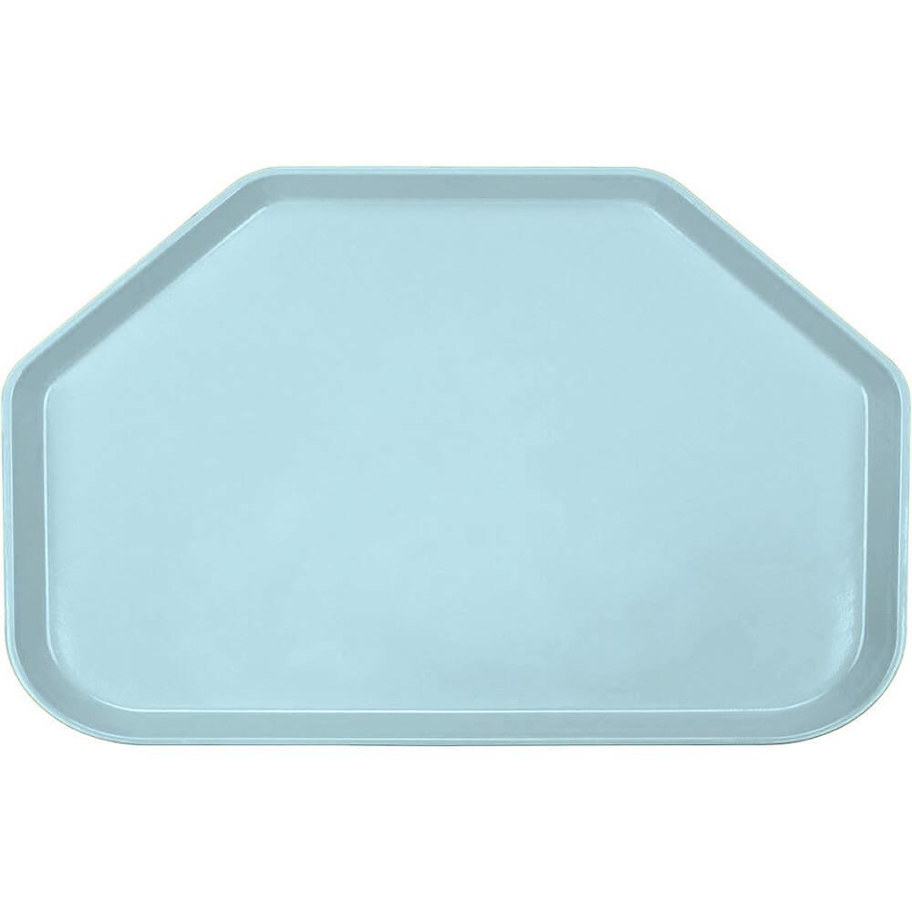 "Sky Blue, 14""x22"" Trapezoid Food Trays, Fiberglass, 12/PK"