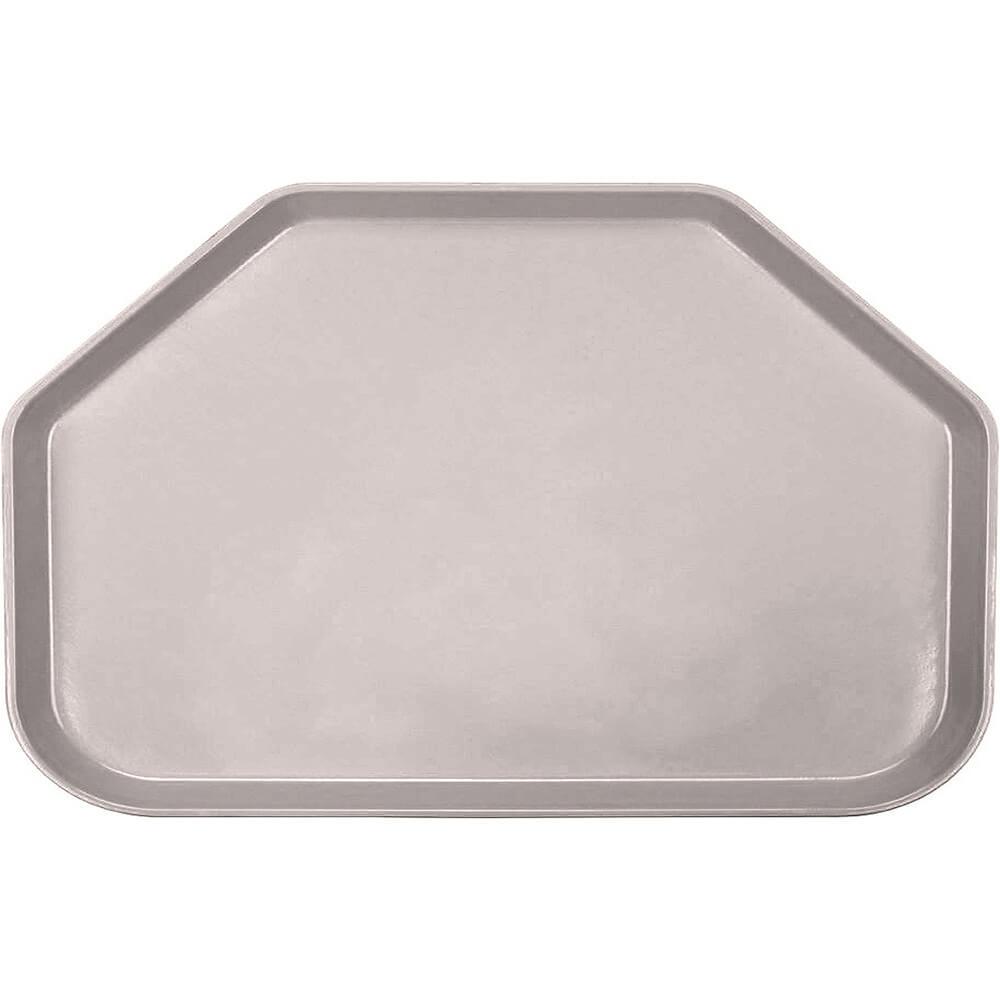"Taupe, 14""x22"" Trapezoid Food Trays, Fiberglass, 12/PK"