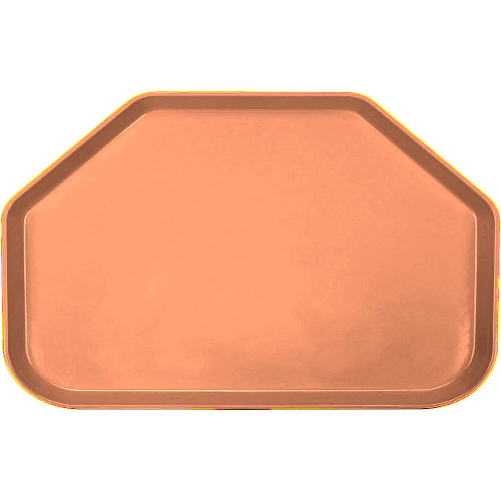 "Orange Pizazz, 14""x22"" Trapezoid Food Trays, Fiberglass, 12/PK"
