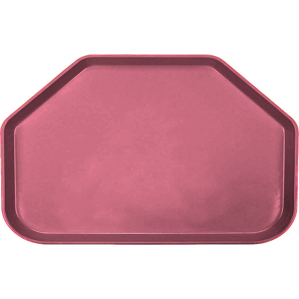 "Raspberry Cream, 14""x22"" Trapezoid Food Trays, Fiberglass, 12/PK"