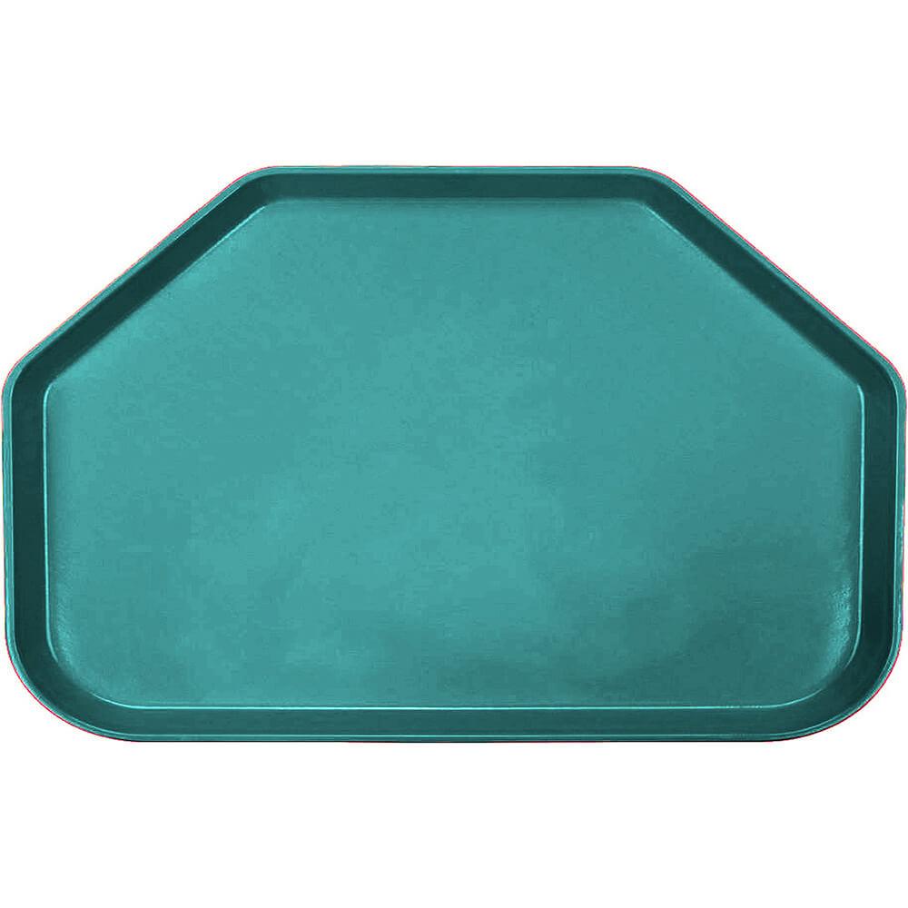 """Teal, 14""""x22"""" Trapezoid Food Trays, Fiberglass, 12/PK"""