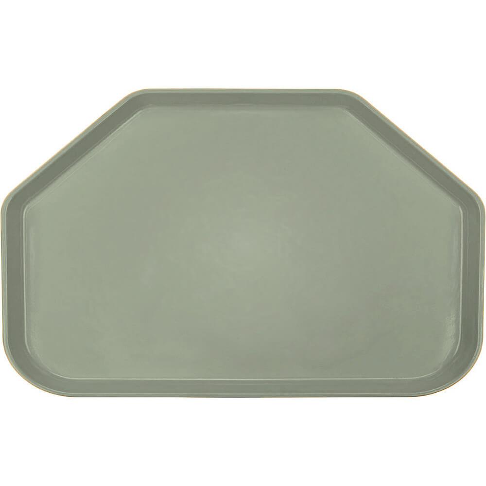 """Olive Green, 14""""x22"""" Trapezoid Food Trays, Fiberglass, 12/PK"""