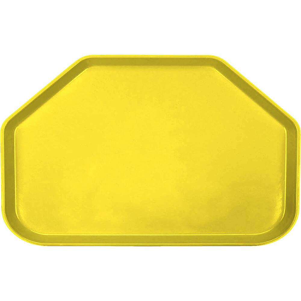 """Mustard, 14""""x22"""" Trapezoid Food Trays, Fiberglass, 12/PK"""
