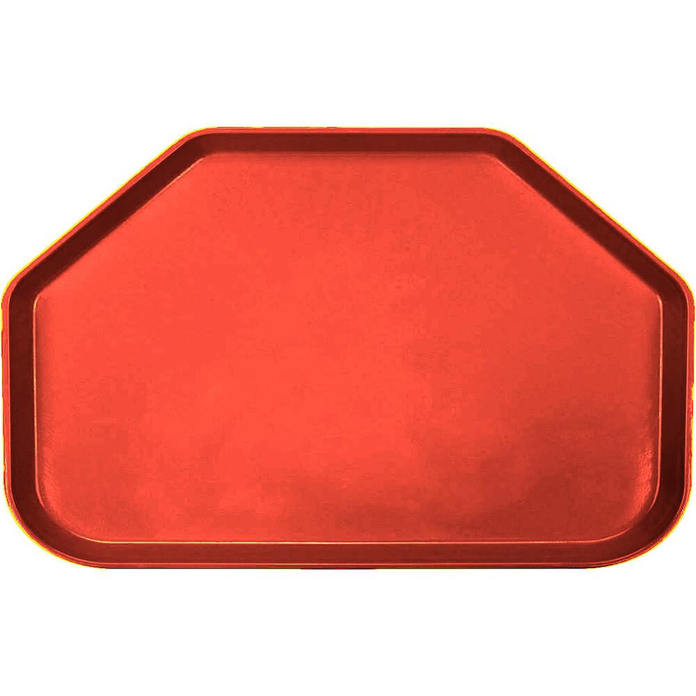 """Signal Red, 14""""x22"""" Trapezoid Food Trays, Fiberglass, 12/PK"""