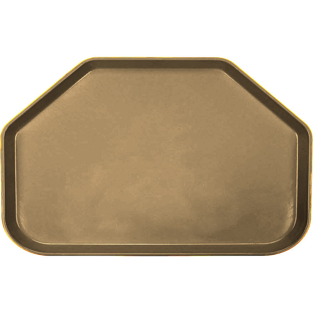 "Bay Leave Brown, 14""x22"" Trapezoid Food Trays, Fiberglass, 12/PK"