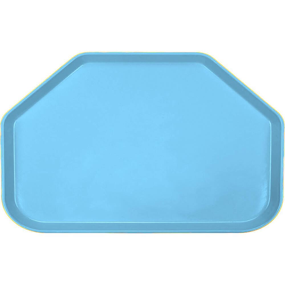 "Robin Egg Blue, 14""x22"" Trapezoid Food Trays, Fiberglass, 12/PK"