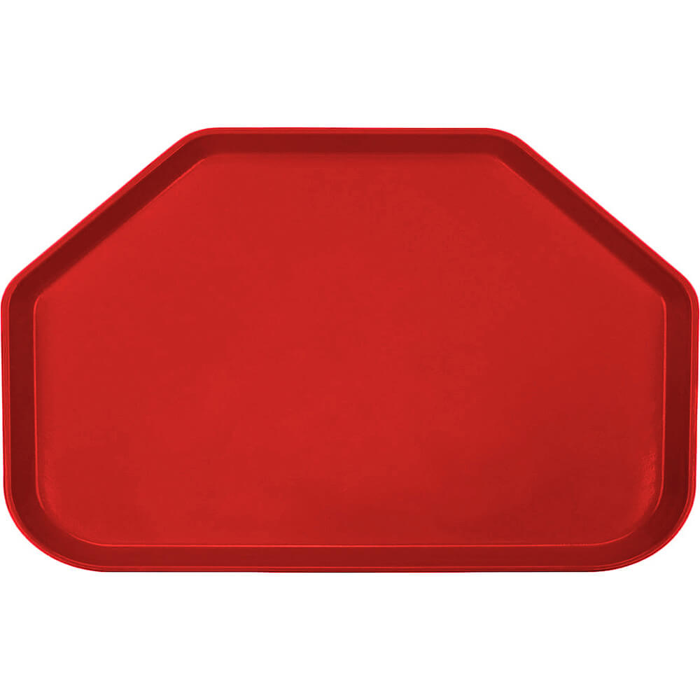 "Cambro Red, 14""x22"" Trapezoid Food Trays, Fiberglass, 12/PK"