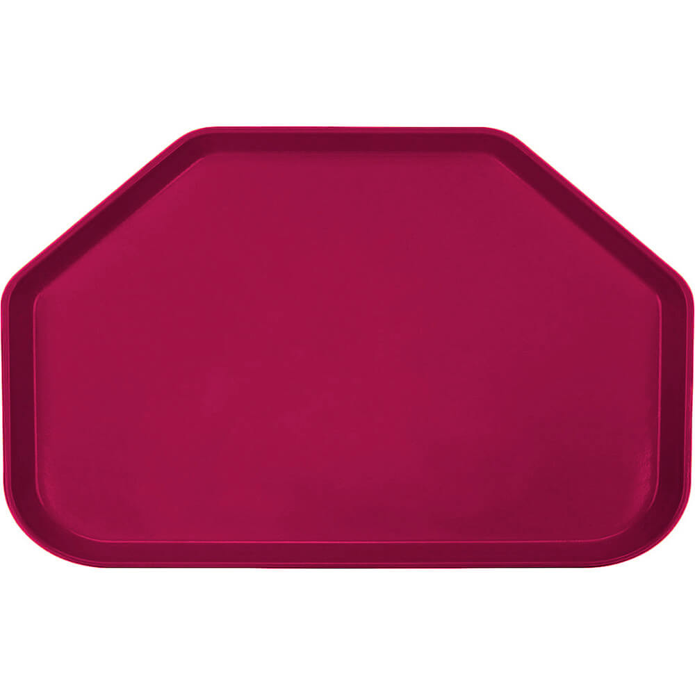 "Burgundy Wine, 14""x22"" Trapezoid Food Trays, Fiberglass, 12/PK"
