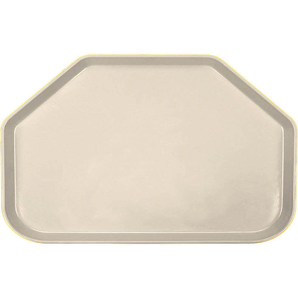"Cameo Yellow, 14""x22"" Trapezoid Food Trays, Fiberglass, 12/PK"