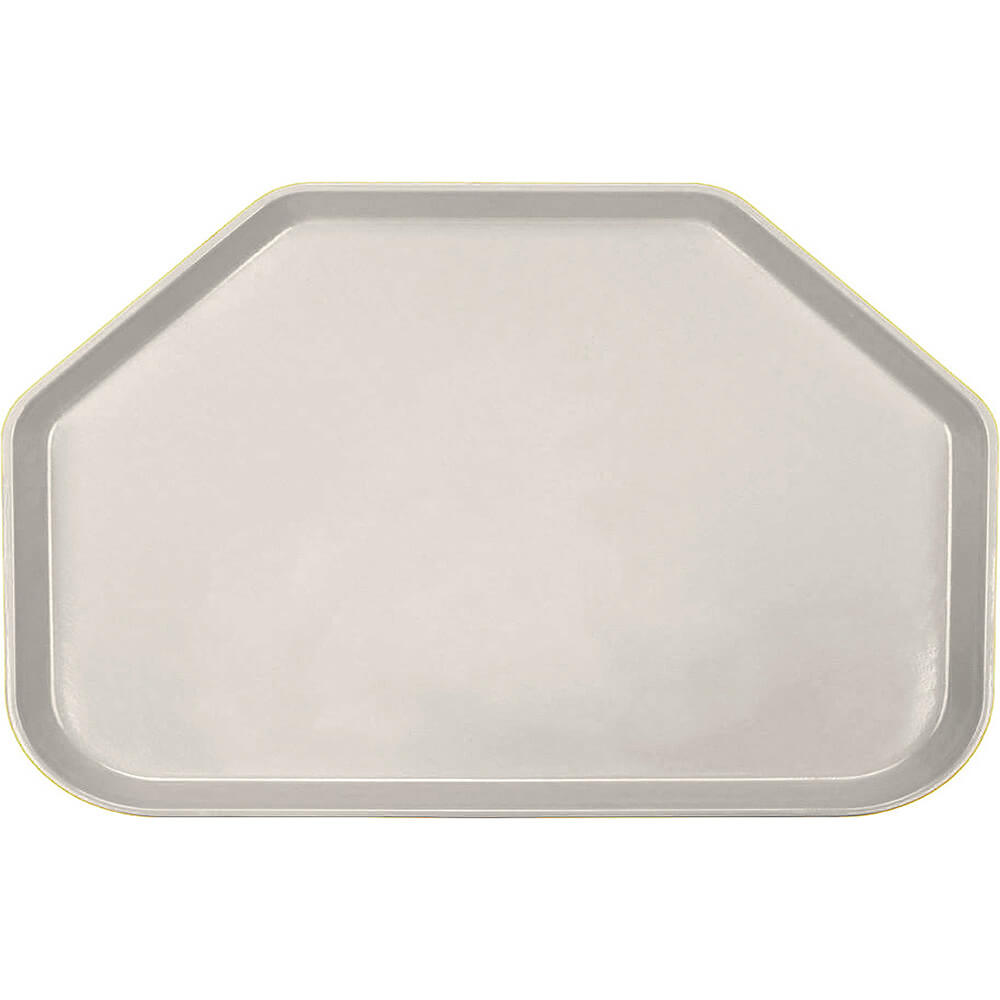 "Cottage White, 14""x22"" Trapezoid Food Trays, Fiberglass, 12/PK"