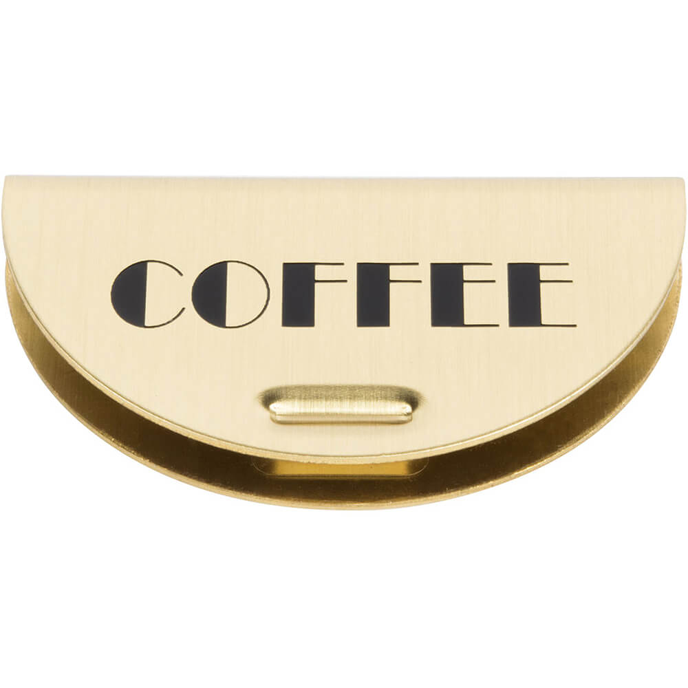 1-Coffee/Decaf Brass Sign