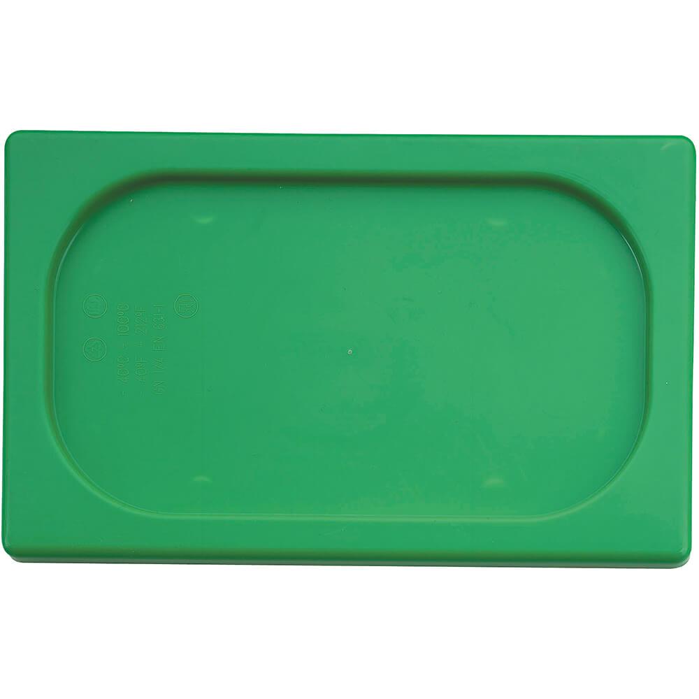 Green, Polypropylene Hotel Pan 1/4 Gn Seal Lid