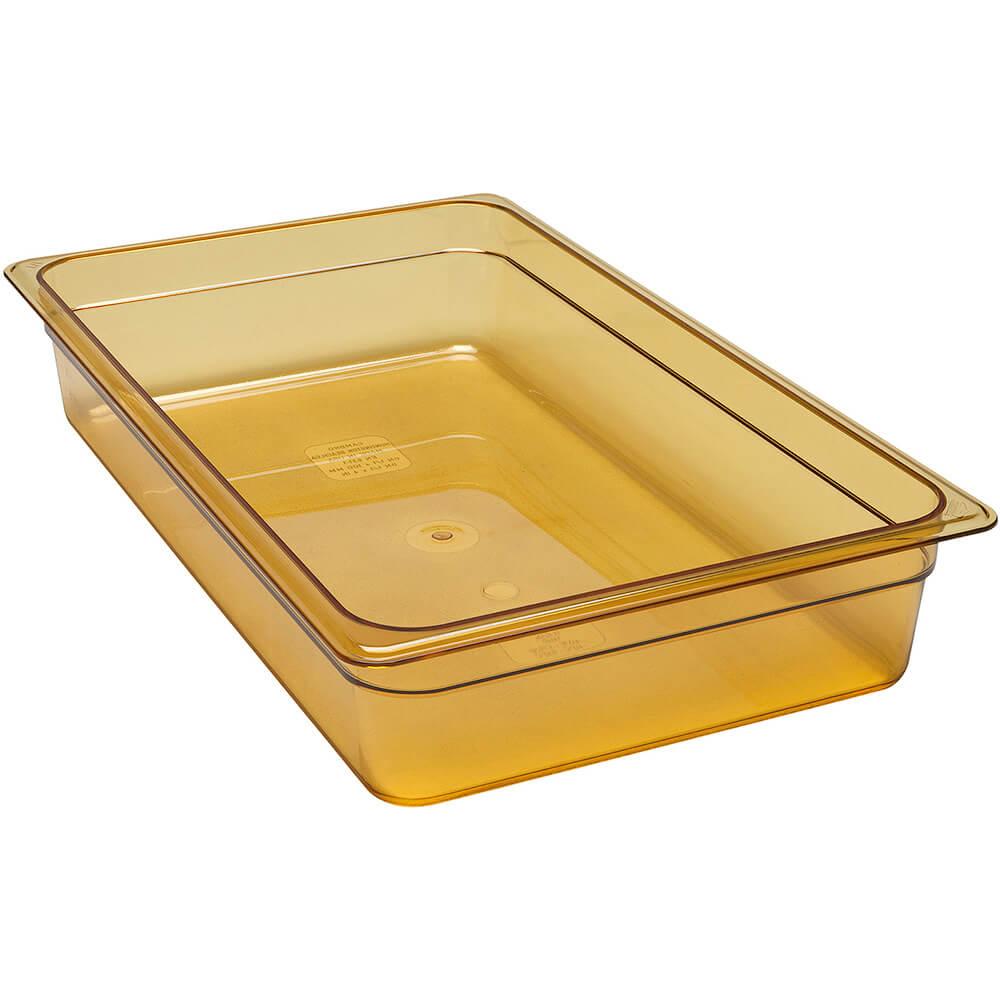"""Amber, 1/1 GN High Heat Food Pan, 4"""" Deep, 6/PK"""