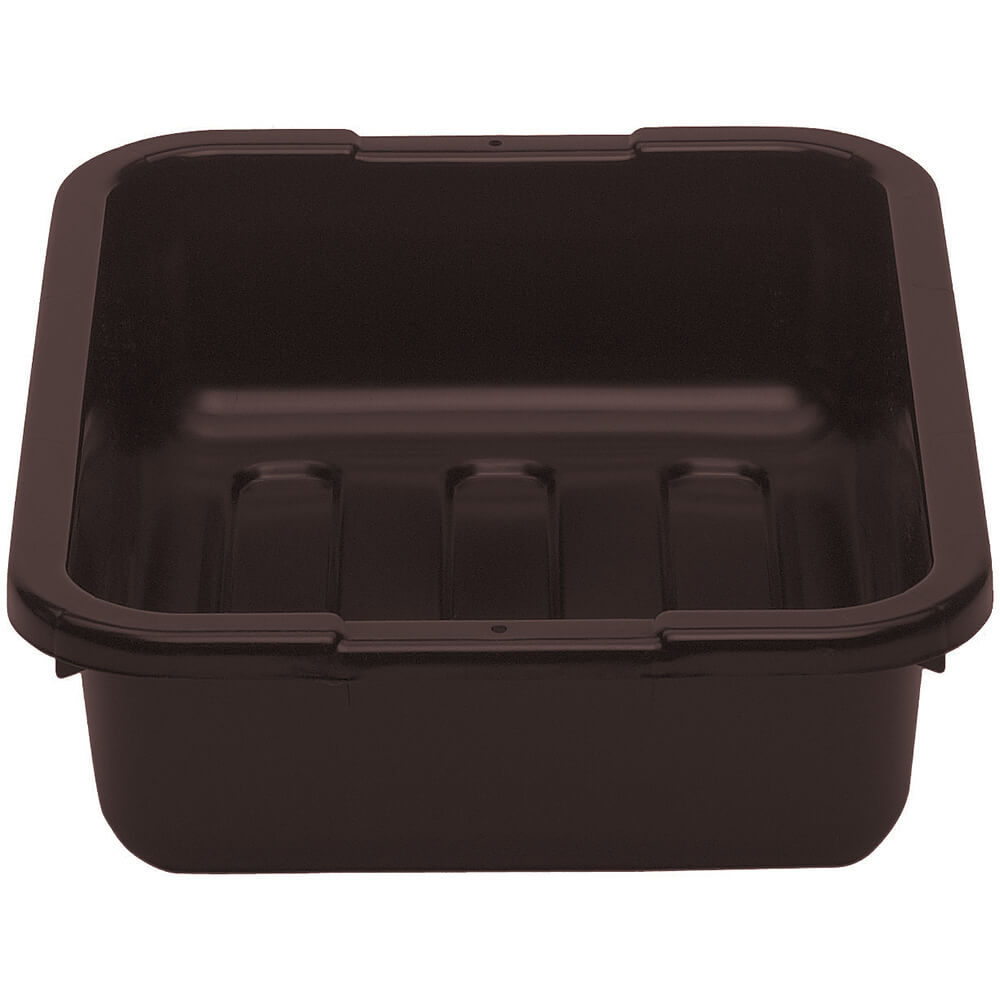 "Dark Brown, 15"" X 20"" Plastic Bus Boxes, 12/PK"