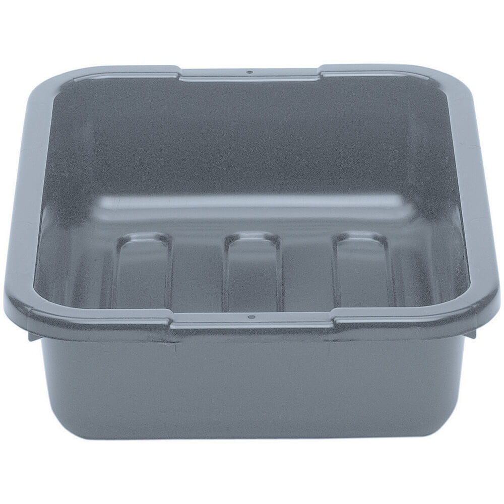 "Gray, 15"" X 20"" Plastic Bus Boxes, 12/PK"