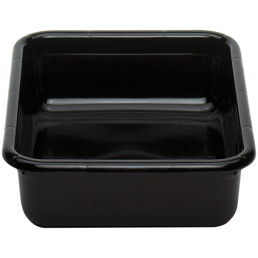 "Black, 17"" X 22"" Plastic Bus Boxes, 12/PK"