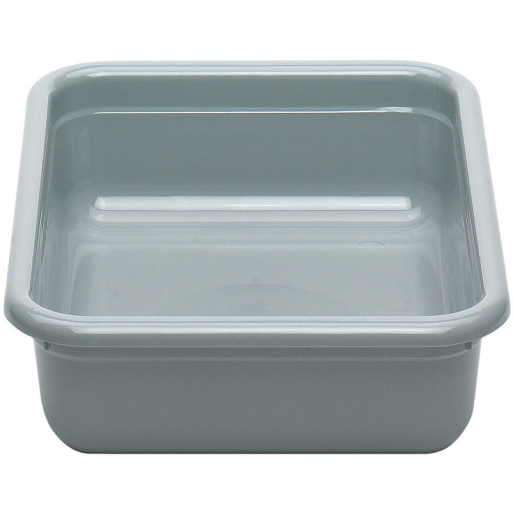 "Gray, 15"" X 20"" Plastic Bus Flat Floor Boxes, 12/PK"