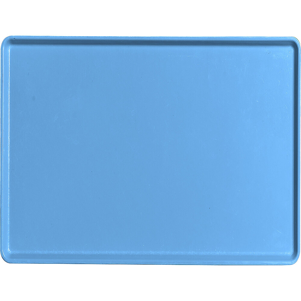 "Horizon Blue, 15"" x 20"" Healthcare Food Trays, Low Profile, 12/PK"