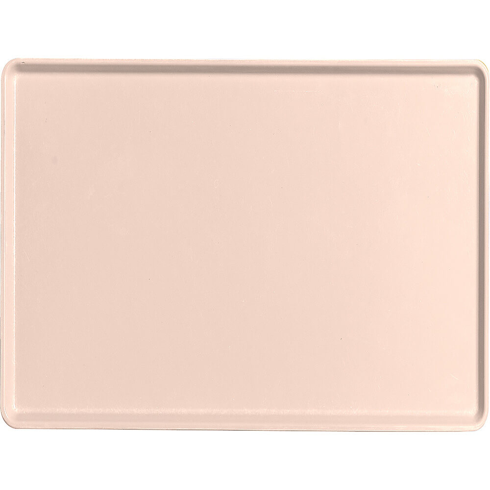 "Light Peach, 15"" x 20"" Healthcare Food Trays, Low Profile, 12/PK"