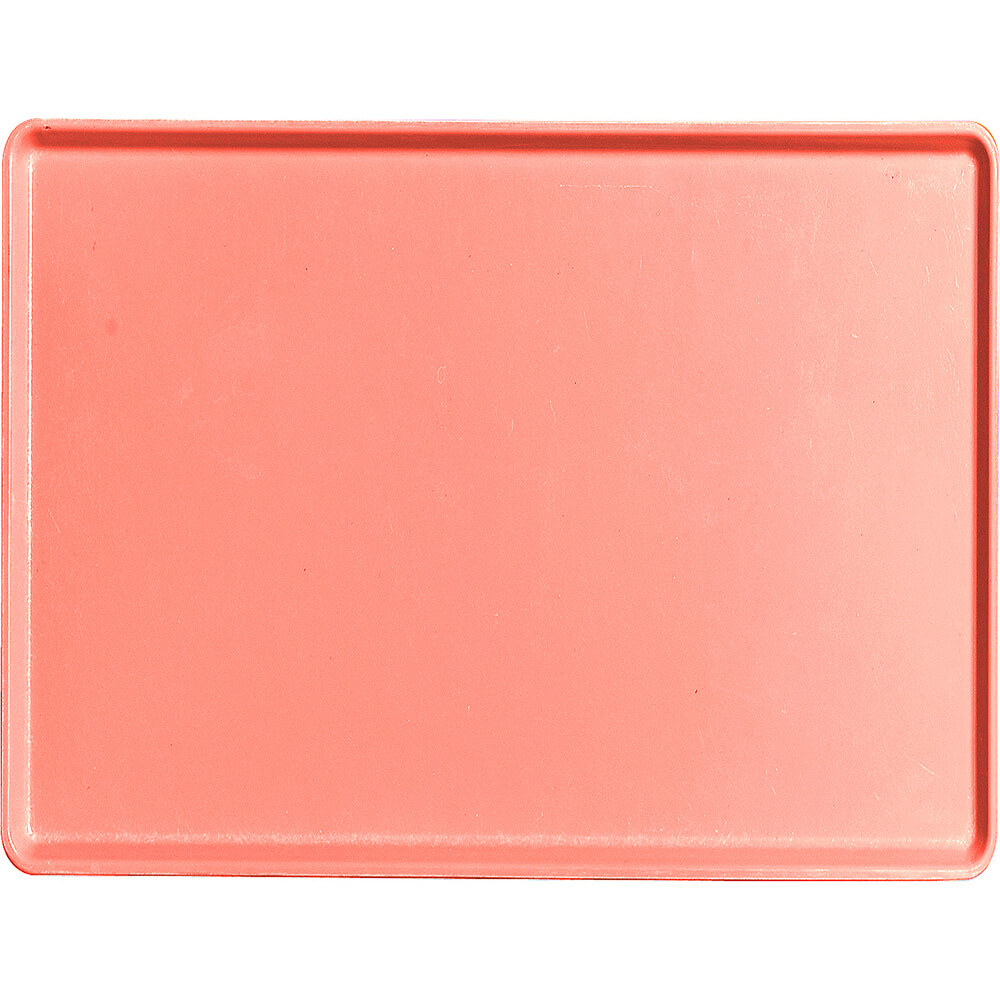 "Dark Peach, 15"" x 20"" Healthcare Food Trays, Low Profile, 12/PK"